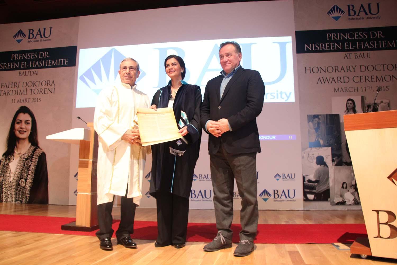 http://content.bahcesehir.edu.tr/Bahçeşehir Üniversitesi, BAU, Prenses Dr. Nisreen El-Hashemite, Fahri Doktora Ünvanı