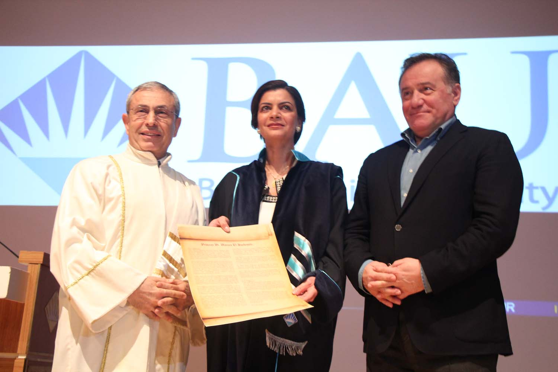 Bahçeşehir Üniversitesi, BAU, Prenses Dr. Nisreen El-Hashemite, Fahri Doktora Ünvanı