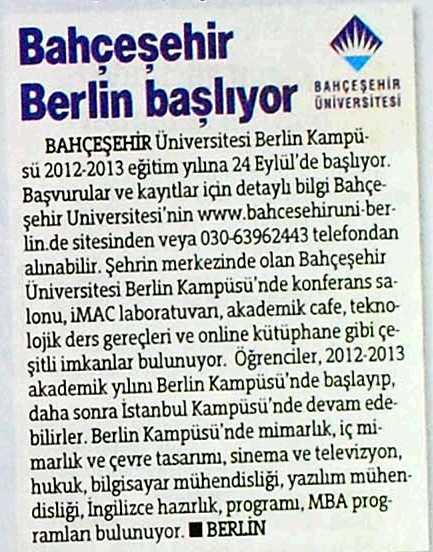 BAU Almanak 2012 - EYLÜL